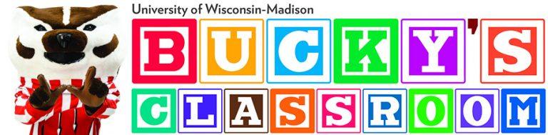 Bucky's Classroom Logo with Bucky Badger